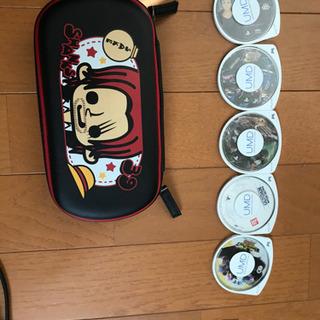 PSP red ソフト5種+SDカード2枚付き