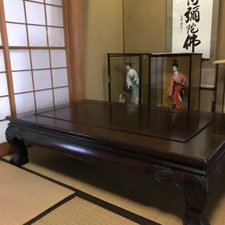 座敷机 黒檀 50万円