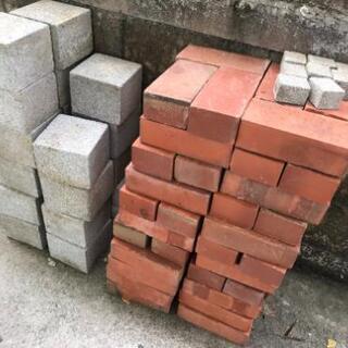 コンクリートブロック、レンガ