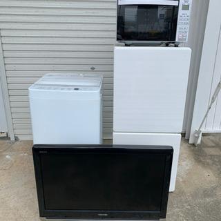 一人暮らし4点セット!液晶テレビ32型 冷蔵庫 洗濯機 電子レンジ