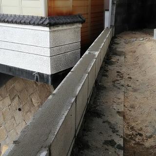 ブロック工事 撤去・新設・補修等承ります。