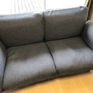 【中古】リクライニング可 2人掛けソファー