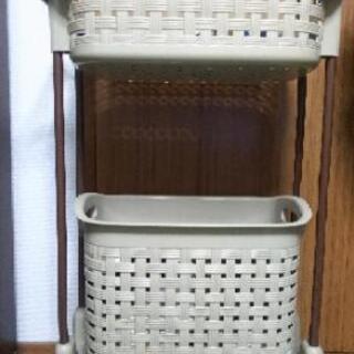 ランドリーバスケット(キャスター付き) 洗濯かご