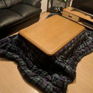 美品! こたつテーブルとこたつ布団セット 高さ調節可能