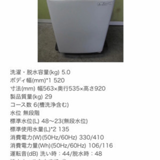 TOSHIBA 洗濯機 あげます