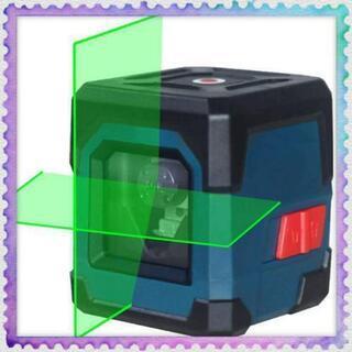 新品未使用 クロスラインレーザー 2ライン 緑色 十字 レーザー...