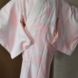 👘 化繊 長襦袢 花束 袖無双 ♪ ピンク暈し 美品