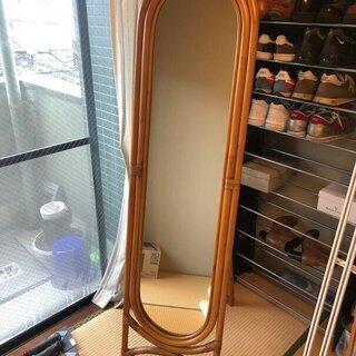 竹(バンブー)素材フレーム鏡(姿見)