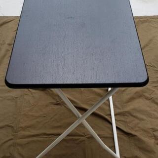 折り畳みテーブルダークブラウン