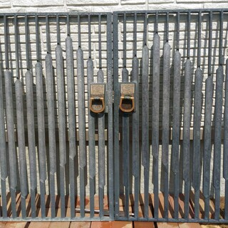 門扉 両開き 鋳物 三共アルミ製
