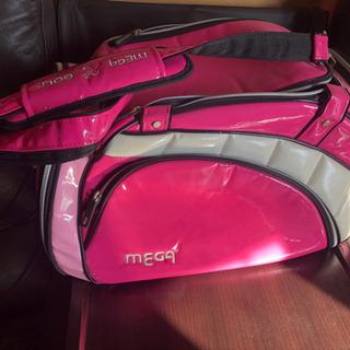 ゴルフbag♪シューズ・靴も別に入るエナメル素材軽量除菌ピンク