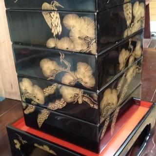 昭和アンティーク 漆のお重箱 いい味出してます!