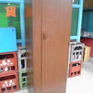 00247 クローゼット★衣類収納★木製★ブラウン【中古品】