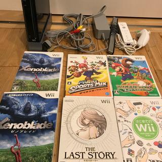 お話中です Wii本体ブラックとソフト5本プラス攻略本付き