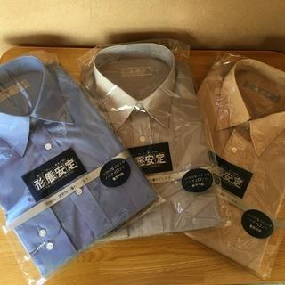¥800 値下げ 形状安定シャツ 3枚組 未使用 美品 ワイシャ...