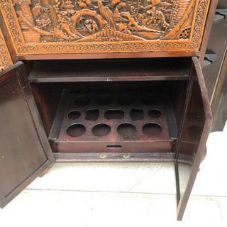 木彫り バーカウンター・骨董