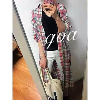 新品☆goa☆ゴア  ロングチェックシャツワンピース
