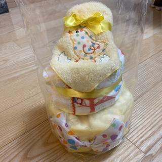 【新品未使用】おむつケーキ(タオルとオムツ)