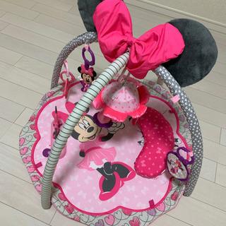 ミニーマウス 赤ちゃん 新生児 プレイマット ジム メリー 美品