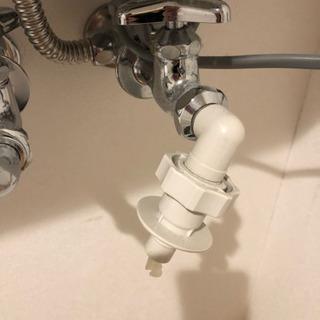 新生活に! 洗濯機の水の栓の画像