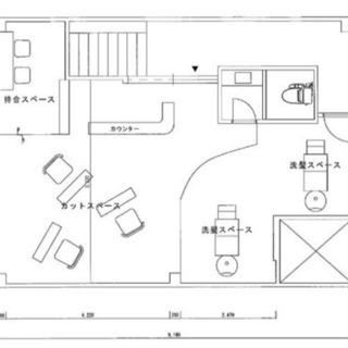 板宿駅前テナント♫希少美容室居抜き物件♫2階でも認知性抜群♫