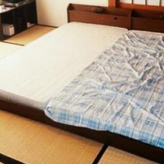 低床 シングルロングベッド2セット