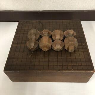 囲碁台 囲碁盤 脚付き くちなし へそ有り 昭和 レトロ アンテ...