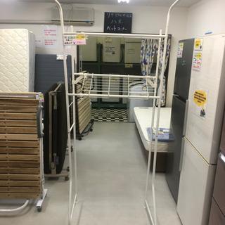 【リサイクルサービス八光 田上店】ホワイト 洗濯ラック 伸…