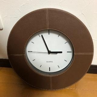 レザー張り壁掛け時計!