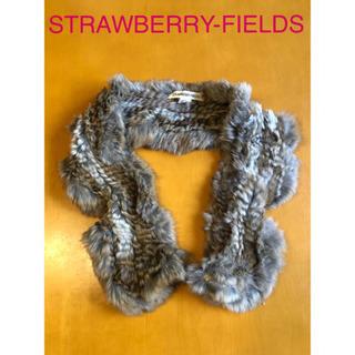 STRAWBERRY-FIELDS ラビットファーマフラー
