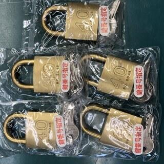 南京錠 KA-40mm 鍵番号指定5個 - 家電