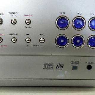 シャープ CD/MDミニコンポ SD-CX8-S 中古 ジャンク - 家電