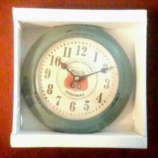 クオーツ式掛時計◆Route66緑◆ヴィンテージ調 未使用