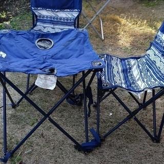 アウトドア 折り畳み ミニ・テーブル&椅子2脚 セット