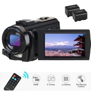 ビデオカメラ デジタルビデオカメラ 2400万画素 HD 108...