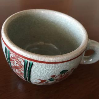 渋草焼コーヒーカップ ペアセット 未使用