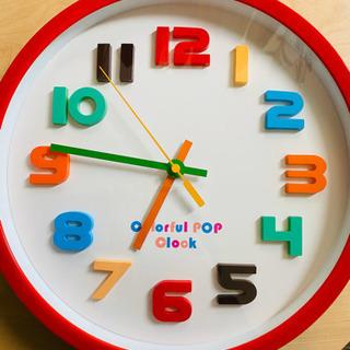 (壁掛け時計) カラフルポップクロック