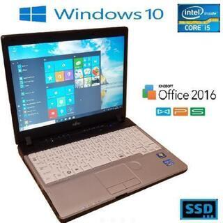 爆速SSD 富士通 i5 6gb win10 Office2016