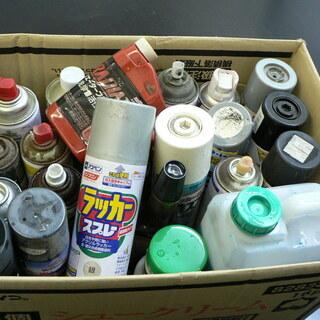 塗料(スプレー・刷毛塗り)+カーケア用品 段ボール一箱 引取り限定