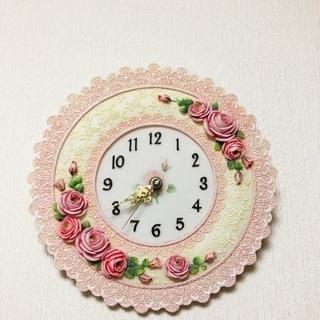 3/31まで◆中古◆壁掛け時計 ピンク