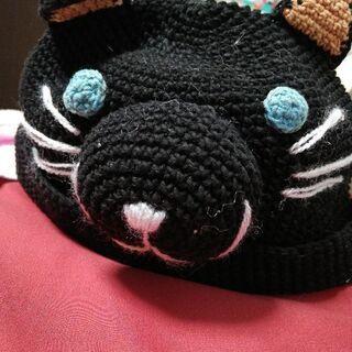 クロネコの帽子(ベビー用