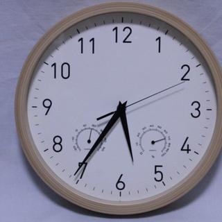 掛け時計 湿度計 温度計 付き