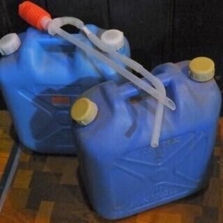 【無料】灯油用 ポリタンク 18L 2個 灯油ポンプ