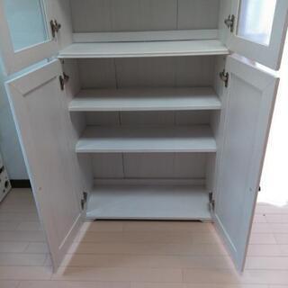 お譲りします!白くておしゃれな収納棚です。 - 家具