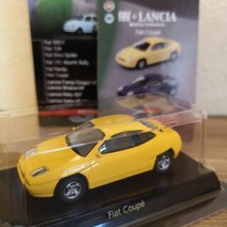 【京商】ミニカー Fiat coupe 黄色