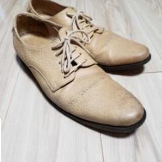 ブッテロ厚手短靴ベージュsize43
