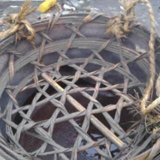 竹材 ざる型収納 2つ 一つの価格