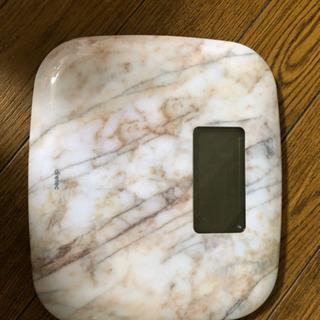 大理石調体重計