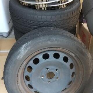 あげます!タイヤ &ワーゲン純正ホイルキャップ