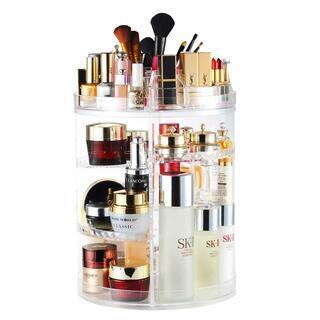 化粧品収納ボックス 大容量 AMEITECH 360度回転 コス...
